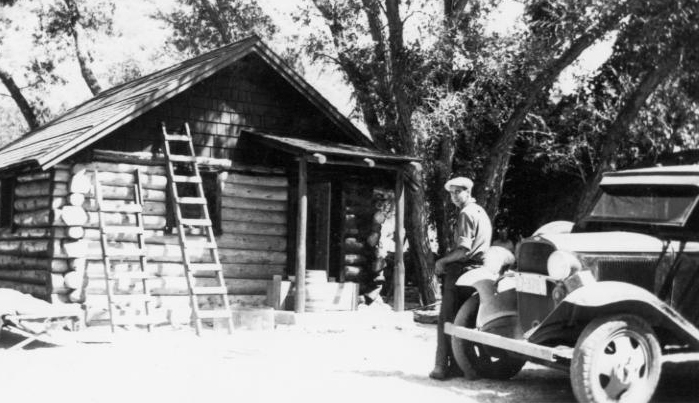 Cabin construction in the mid 1930s